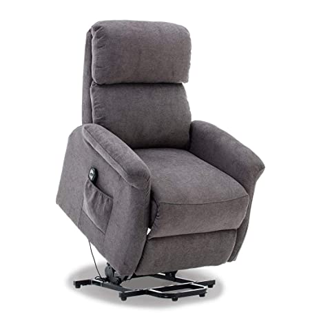 Admirable Bonzy Lift Recliner Classic Power Lift Chair Soft And Warm Fabric With Remote Control For Gentle Motor Gray Ocoug Best Dining Table And Chair Ideas Images Ocougorg
