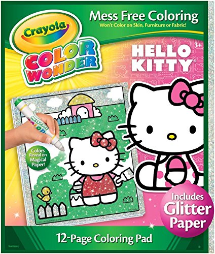 Crayola Color Wonder Hello Kitty Glitter Refill Coloring Pad (Refill Paper Wonder Color)
