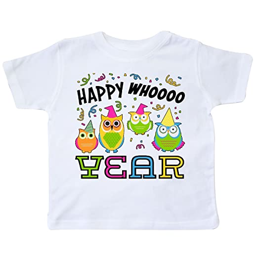 Amazon.com: inktastic Happy Whoo Year- Funny New Year Owls Toddler T ...