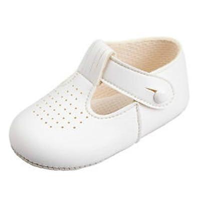 Baby Boys T Bar Pram Schuhe mit Loch Schnittmuster - Made in England ...