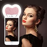 Reacher Selfie Luce Anello Flash Macro Ring Light Supplementare di Illuminazione Notturna per iPhone Samsung HTC Nokia iPad LG Motorola e Altri Smartphone (Rosa)