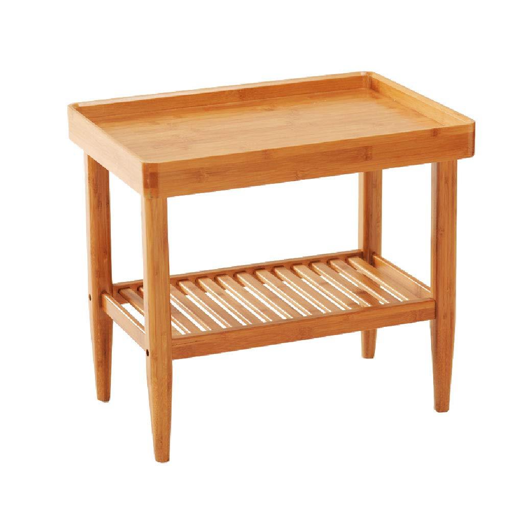 オープンラック ソファサイドテーブル現代シンプルな竹の寝室の棚フラワースタンド本棚50 * 36 * 45センチメートル B07T2DD55G