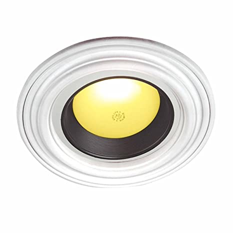 Recessed spot light ring trim ceiling medallion white durable recessed spot light ring trim ceiling medallion white durable urethane 6quot 12 id aloadofball Image collections