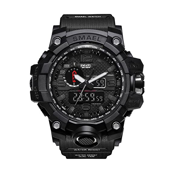 Reloj Digital, Reloj Deportivo, para Hombre, para actividades al aire libre, Impermeable deportivo, militar, sumergible, ect.: Amazon.es: Relojes