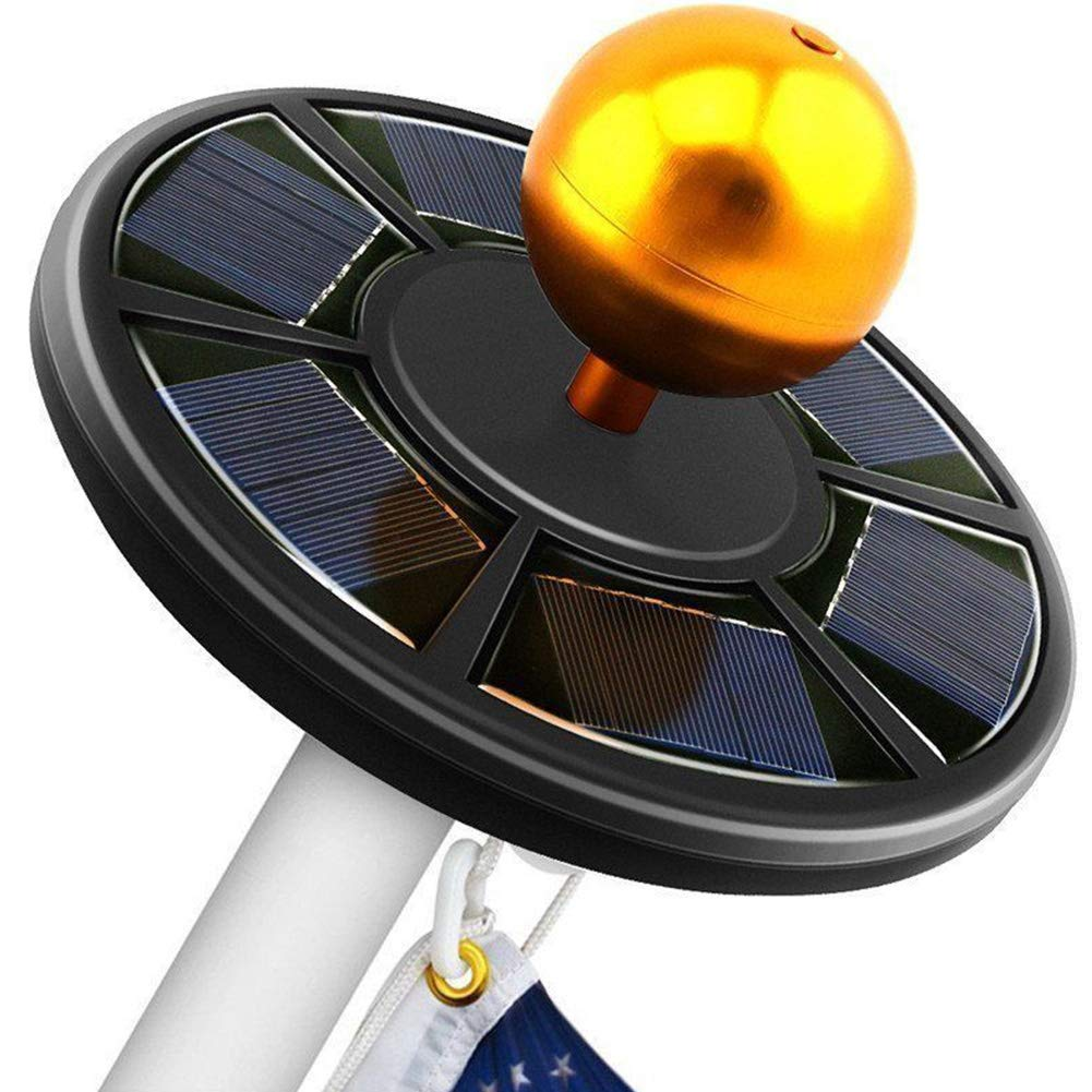Tubwair 42 LED Solar Flag Pole Lights IP65 Waterproof Flagpole Downlight for Dusk to Dawn Auto On/Off Night Lighting(Black)