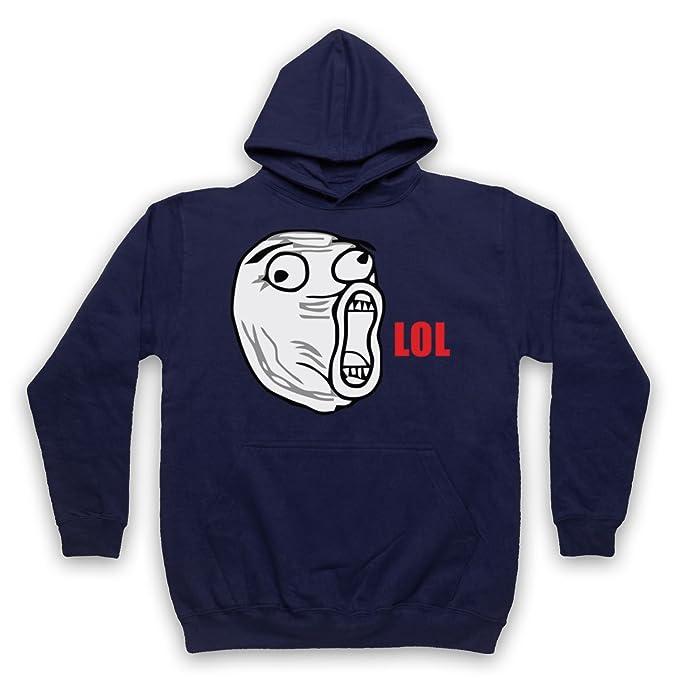 My Icon Art & Clothing LOL Face Meme Adultos Sudadera con Capucha: Amazon.es: Ropa y accesorios