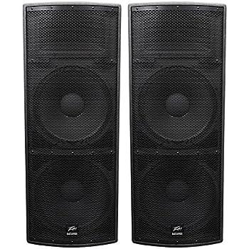 Amazon Com 2 Peavey Sp4 Dual 15 Quot 3 Way Pa Speakers