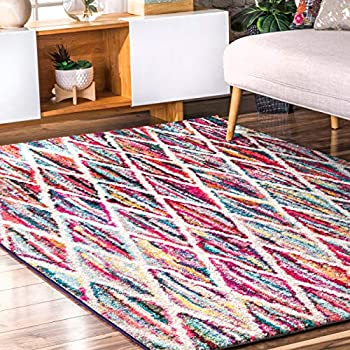 Amazon Com Hand Tufted Cotton Candy Stripes Multi Runner Area Rugs