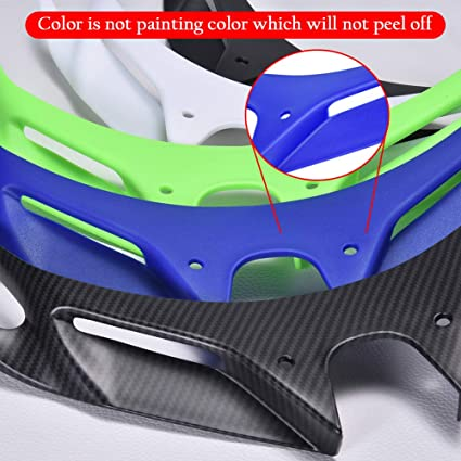 Lorababer FOR KAWASAKI Ninja 250 Ninja 400 2018-2020 Front Fairing Winglets Cover Protection Guard Ninja250 400 18 19 20 Accessories,Nose cover Front Fender Fairing Black
