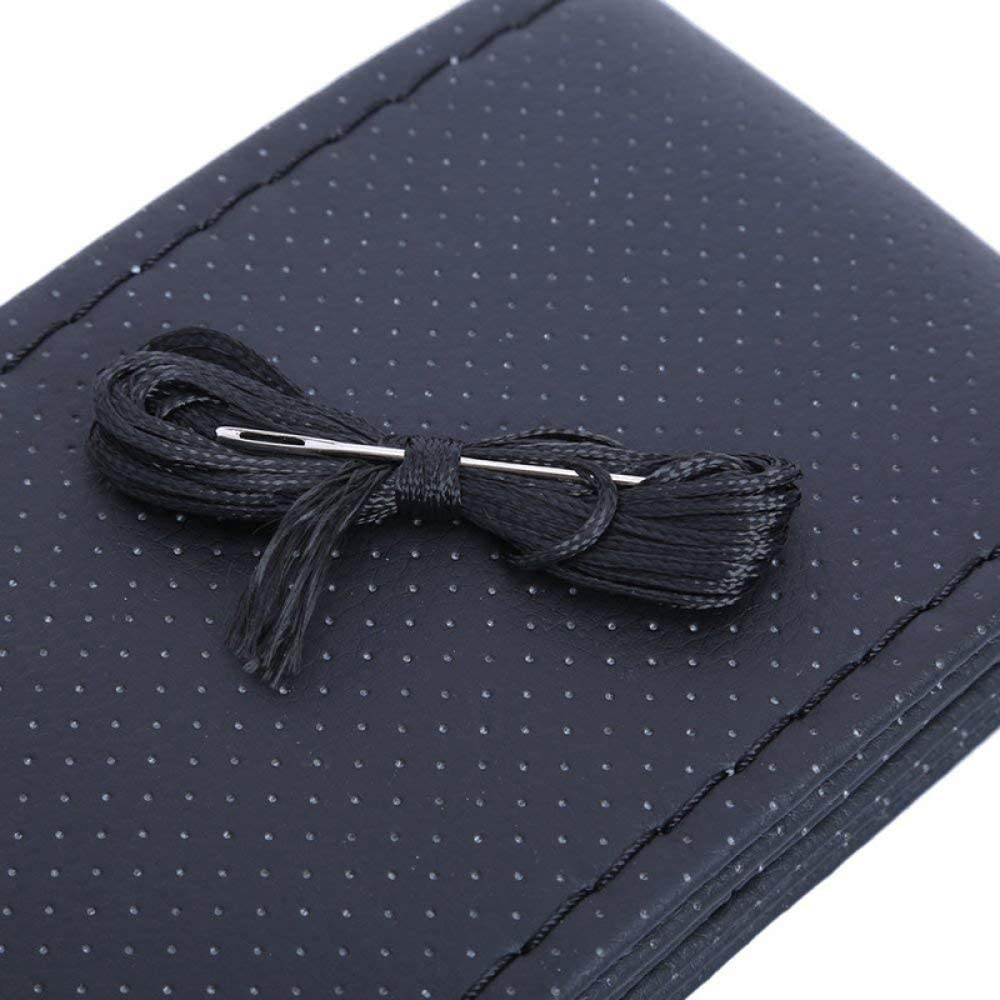 HOMGB Steering Wheel Cover Car Faux Leather Steering Wheel Cover Case DIY Braid Leather Steering Wheel with Needle /& Thread Diameter 38cm