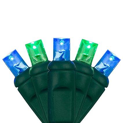 5mm led christmas lights 70 lights 24 ft blue green