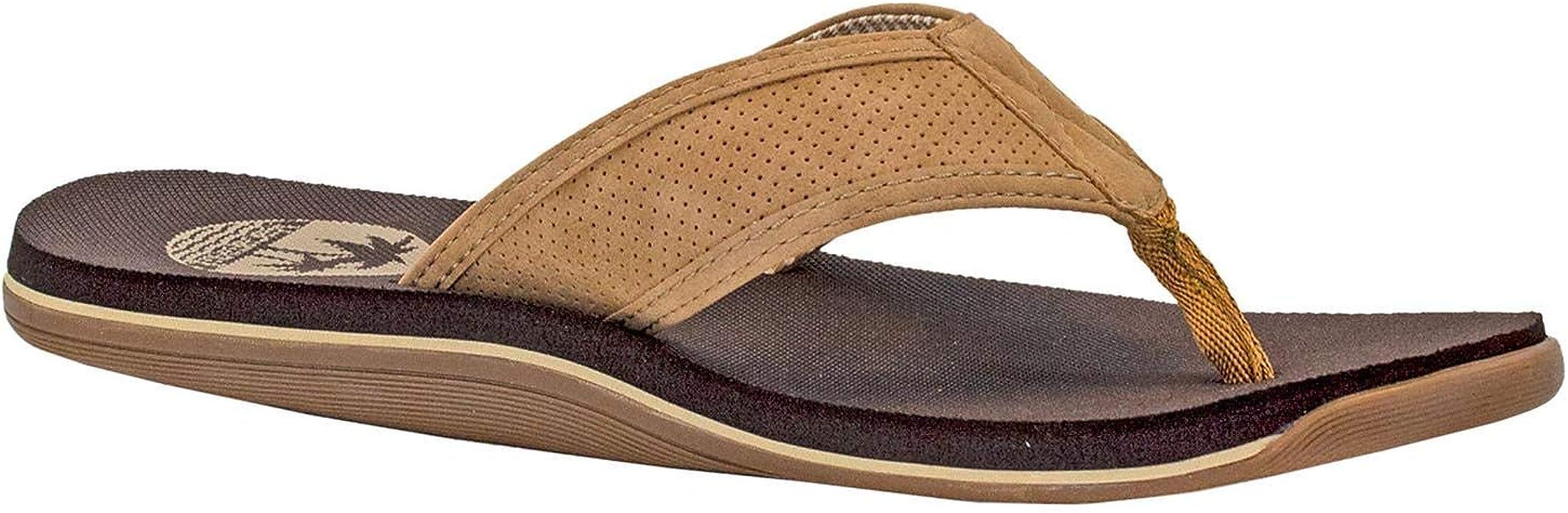 Size 11 New  WB Men/'s  MARGARITAVILLE Tan  Leather Slides Sandals Shoes