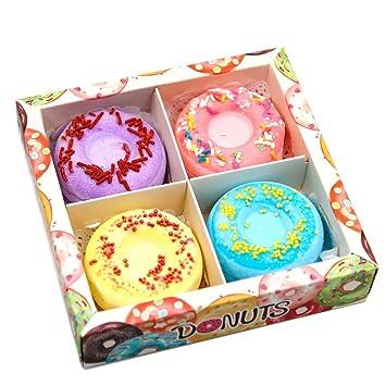 Birthday Cake Bath Bomb Gift Set Vegan Natural Organic Essential Oil Donut Bubble Lush Fizzy