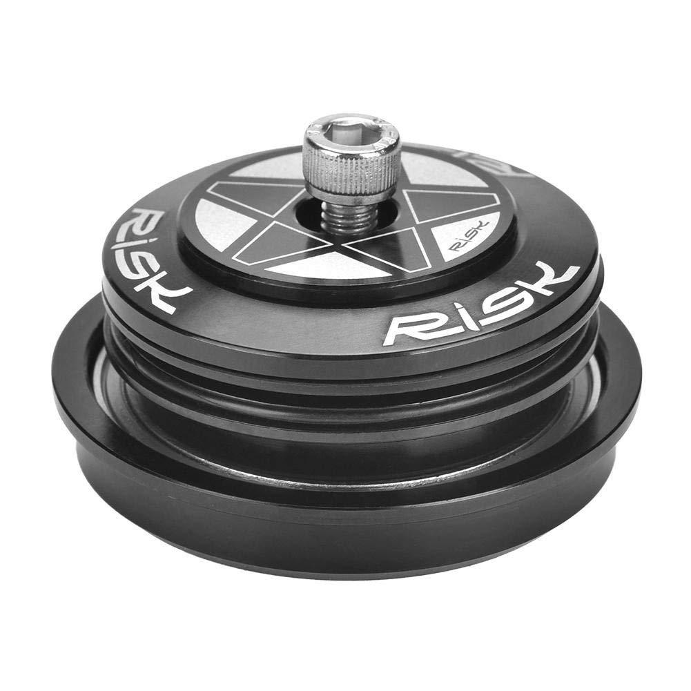 Sourcingmap - Juego de rodamientos para Bicicleta (aleación de Aluminio, 44 a 55 mm), Color Negro Yunjiadodo