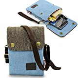 Dlames Canvas Small Cute Crossbody Cell Phone Purse Wallet Bag with Shoulder Strap for iPhone X,iPhone 8 Plus,iPhone 6 6s 7 Plus, Samsung Galaxy S7 Edge S8 Edge (Fits with OtterBox Case)