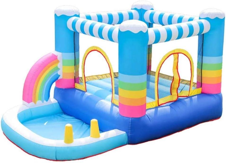 ZTKBG Parque de Atracciones de Rainbow Home Toboganes Parque Infantil Piscina de Verano for niños bañera Inflable Juguete de Interior: Amazon.es: Deportes y aire libre