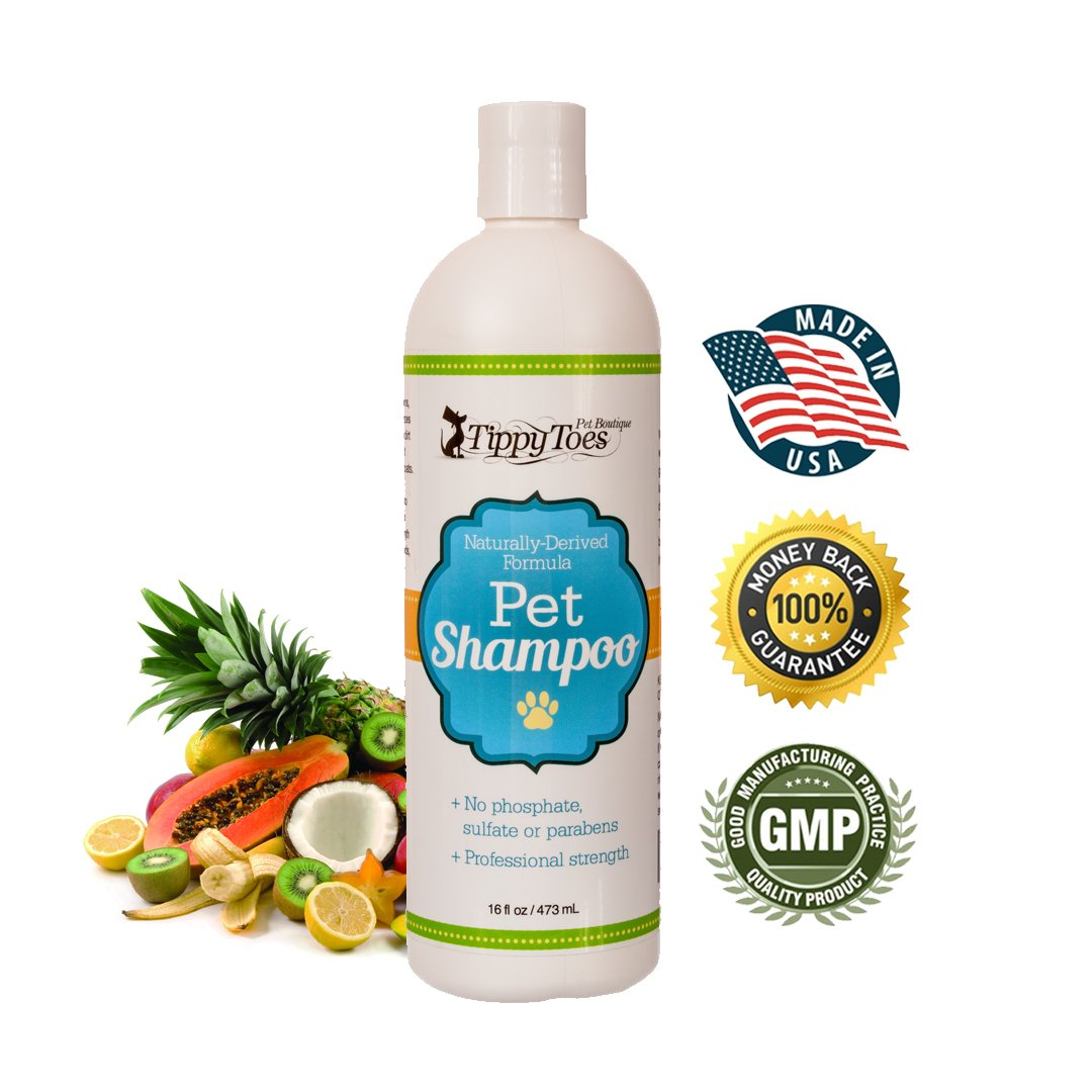 ALL Natural 5 in 1 Dog Shampoo and Conditioner - Professional Grade Cleans Conditions Detangles Moisturizes plus Deodorizes Smells GREAT Best for itchy skin PROUDLY Made in USA