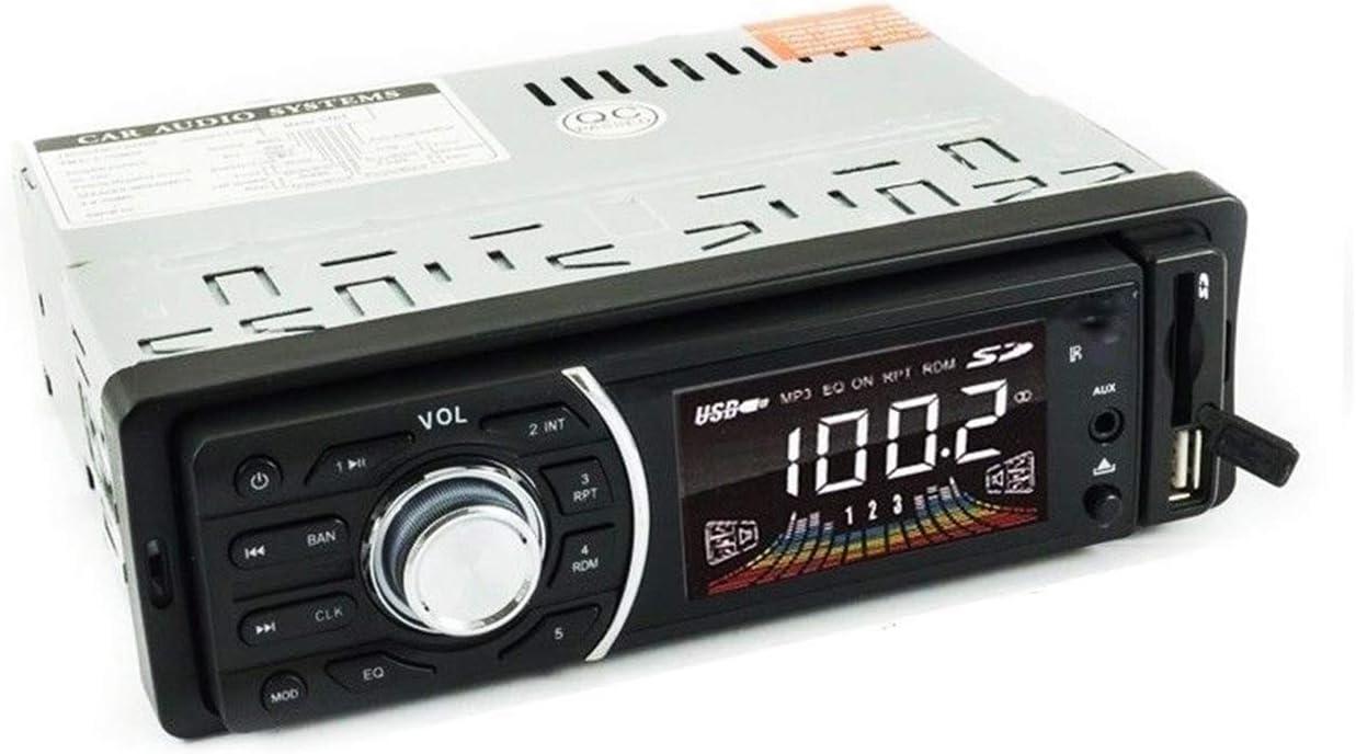 Radio estéreo para coche con Bluetooth, frontal extraíble, radio FM, MP3, SD, USB, AUX, 1208