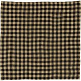 VHC Brands Classic Country Primitive Tabletop & Kitchen - Burlap Black Check Black Table Topper