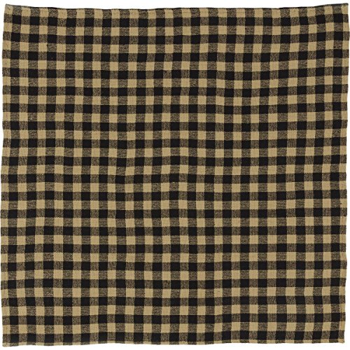 VHC Brands Classic Country Primitive Tabletop & Kitchen - Burlap Black Check Black Table Topper by VHC Brands