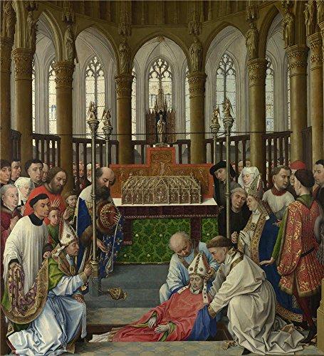 Oil Painting 'Rogier Van Der Weyden And Workshop The Exhumation Of Saint Hubert', 8 x 9 inch / 20 x 22 cm , on High Definition HD canvas prints, gifts for Basement, Dining Room And Foyer (Amish Dining Room China Cabinet)