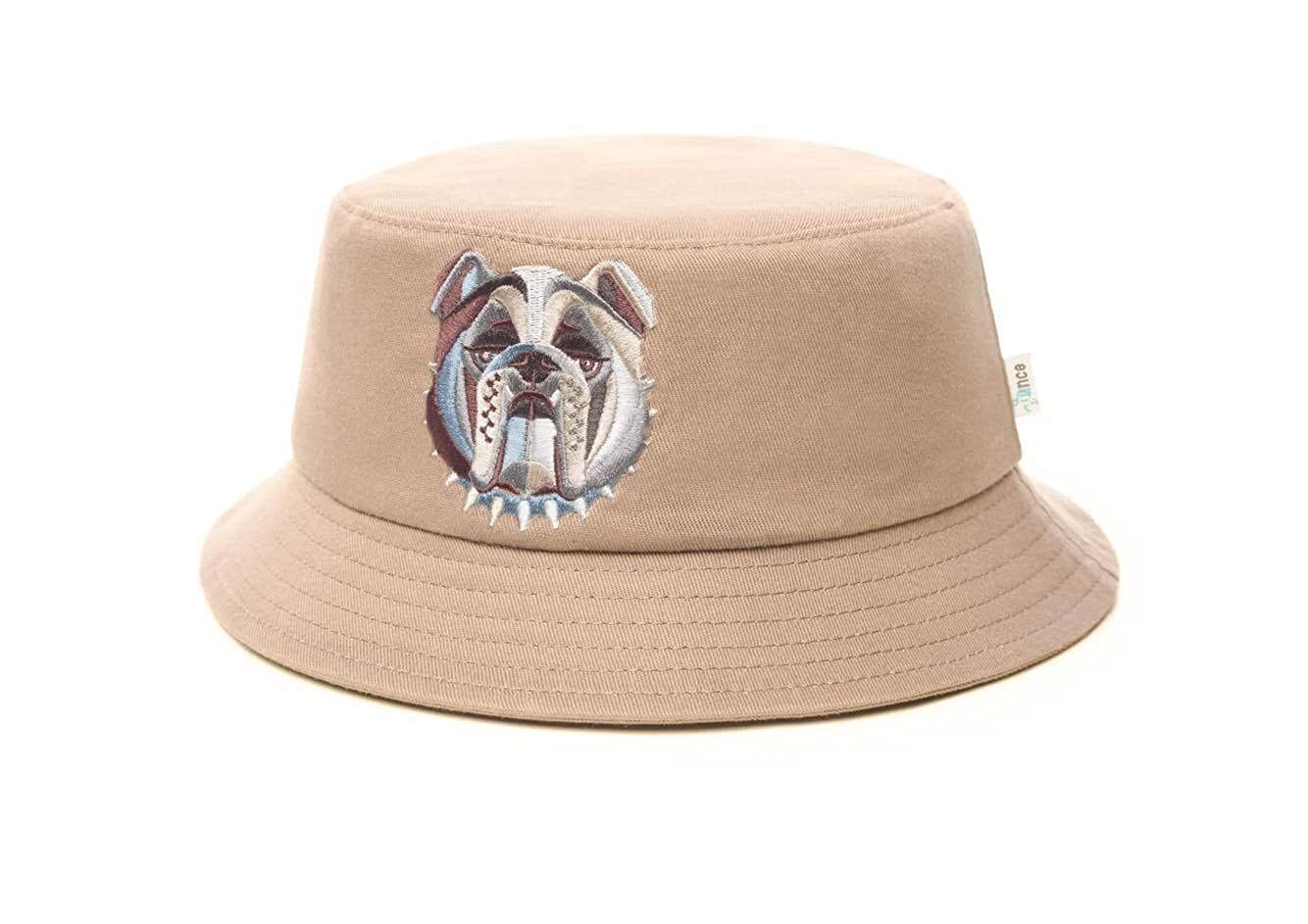 28 OUNCE Men s Bucket Hat One-Size-Fits-Most Premium Quality Material 100%  Cotton Multicolor Embroidered English Bulldog Logo by Ounce Stylish and ... 2610fd0f697a