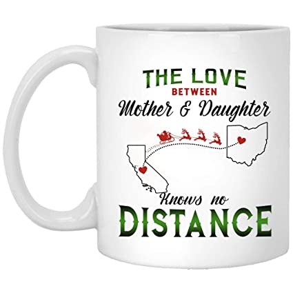 Amazoncom Christmas Mug For Long Distance Relationship California