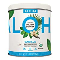 Plant-Based Protein Powder | Organic Vanilla Keto Friendly Vegan Protein with MCT Oil, 18.5 oz, Makes 15 Shakes, Vegan, Gluten Free, Non-GMO, Stevia Free & Erythritol Free, Soy Free, Dairy Free & Only 3g Sugar