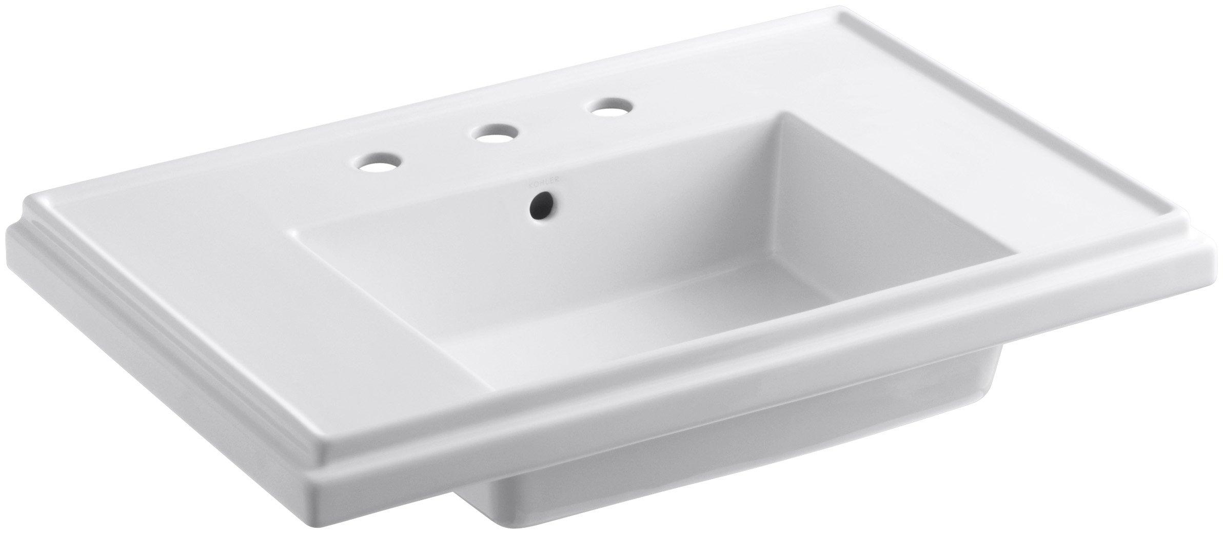 KOHLER K-2758-8-0 Tresham 30-Inch Pedestal Bathroom Sink