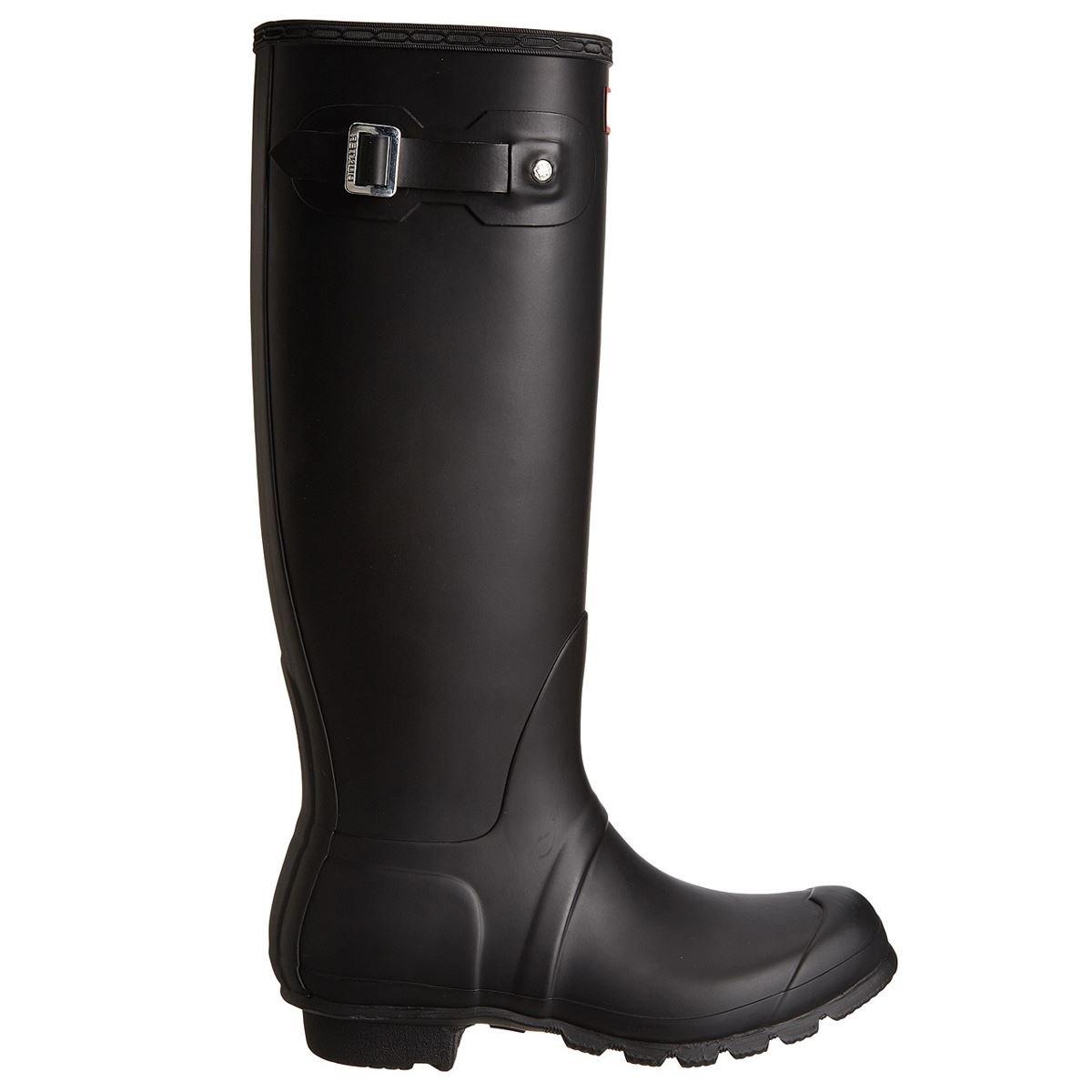 Hunter Women's Original Tall Snow Boot, Black, 8 M