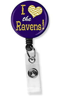 Baltimore Ravens Badge Reel Retractable Security ID Card Holder Pass Lanyard