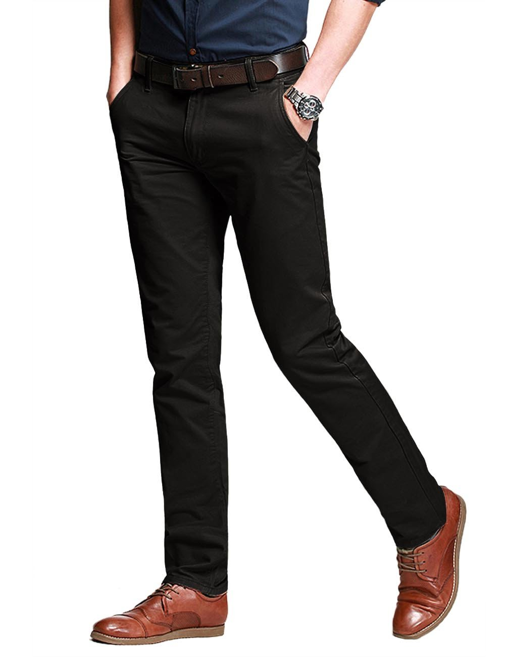 Match Men's Slim Stretchy Casual Trousers#8106