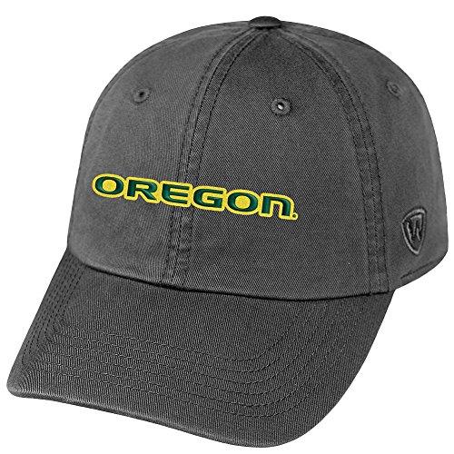 Elite Fan Shop Oregon Ducks Hat Icon Charcoal - Adjustable