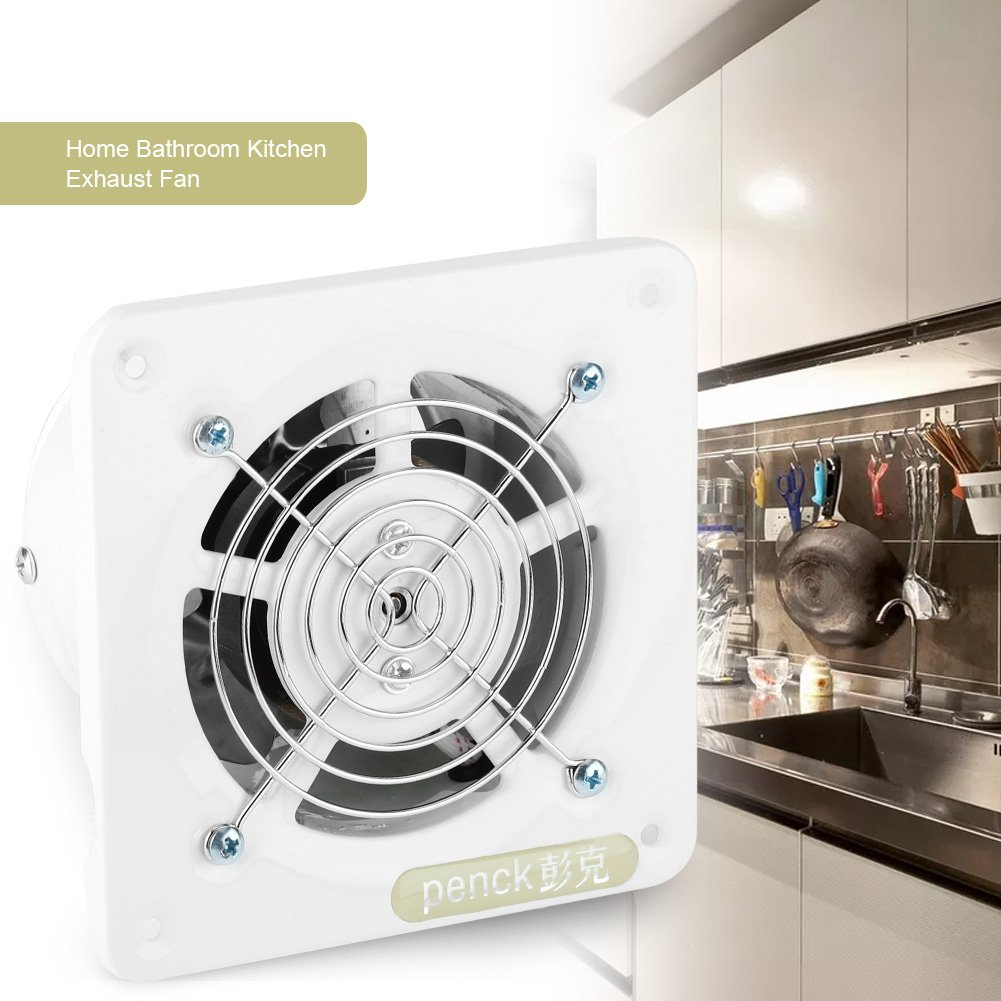Aspiratore Ventola da ventilazione silenziosa a basso rumore estrazione Ventola di scarico montata a parete casa bagno cucina Garage di ventilazione Air Vent basso consumo energetico 100mm 25W 220V