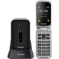 Funker C75 EASY COMFORT - Teléfono Móvil con Tapa, Fácil Uso para Personas Mayores con Botón SOS y Base Cargadora, color…