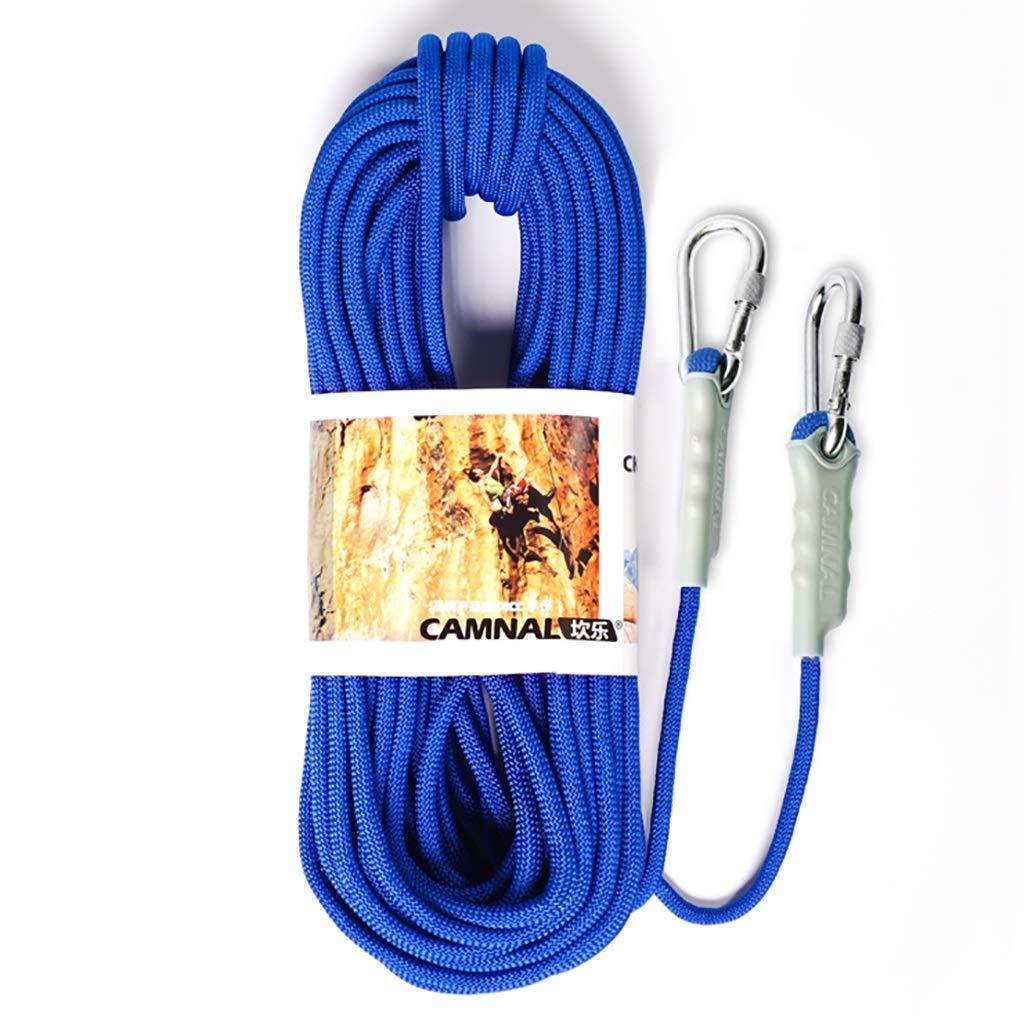 - SCJ Cordes Corde d'escalade extérieure, Corde de sécurité de 12 8 mm, Descente en Rappel, Corde d'escalade Corde d'escalade en Nylon, 50m   40m   30m   20m   15m   10m (Taille  12mm-20m) 12mm-20m