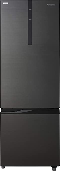 Panasonic 296 L 2 Star Frost Free Double Door Refrigerator NR BR307RKX1, Black, Inverter Compressor, Bottom Freezer  Refrigerators