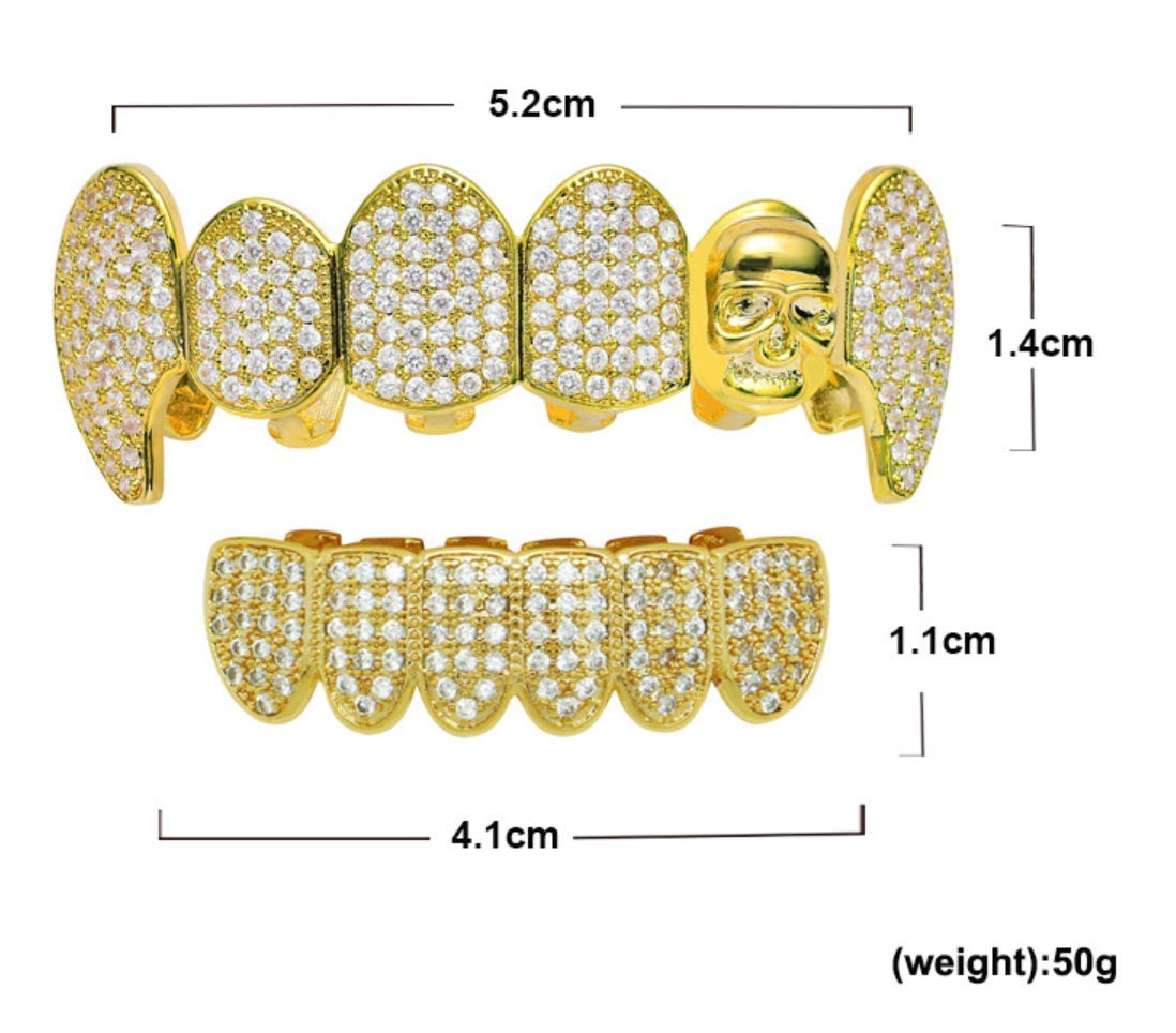 Amazon.com: Hip-Hop dientes microincrustados circonitas ...