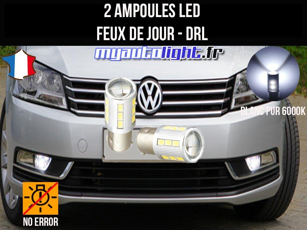 Pack feux de jour led blanc xenon pour Volkswagen Passat B7 MyAutoLight