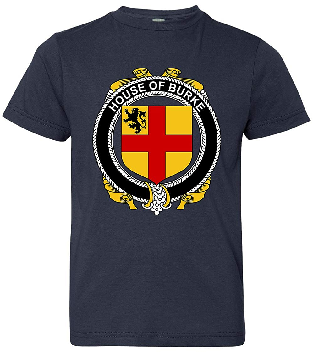 Tenacitee Boys Youth Irish House Heraldry Burke T-Shirt