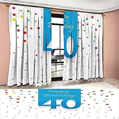 Amazon.com: Mannwarehouse Cortina de 40 cumpleaños para ...