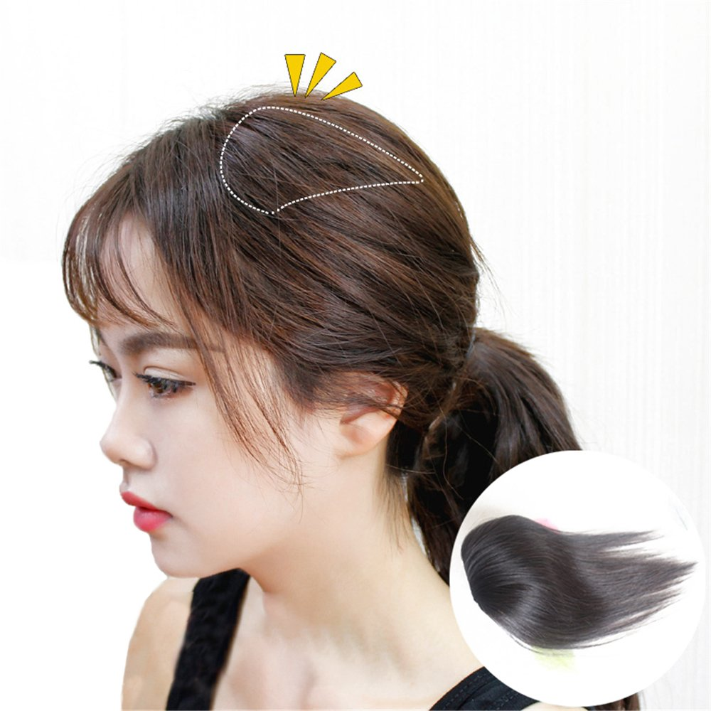 Susanki 2 Clips in Human Hair Top Crown Closure for Thinning Hair 10'' Women's Topper Wiglet Hairpieces (Light Brown)