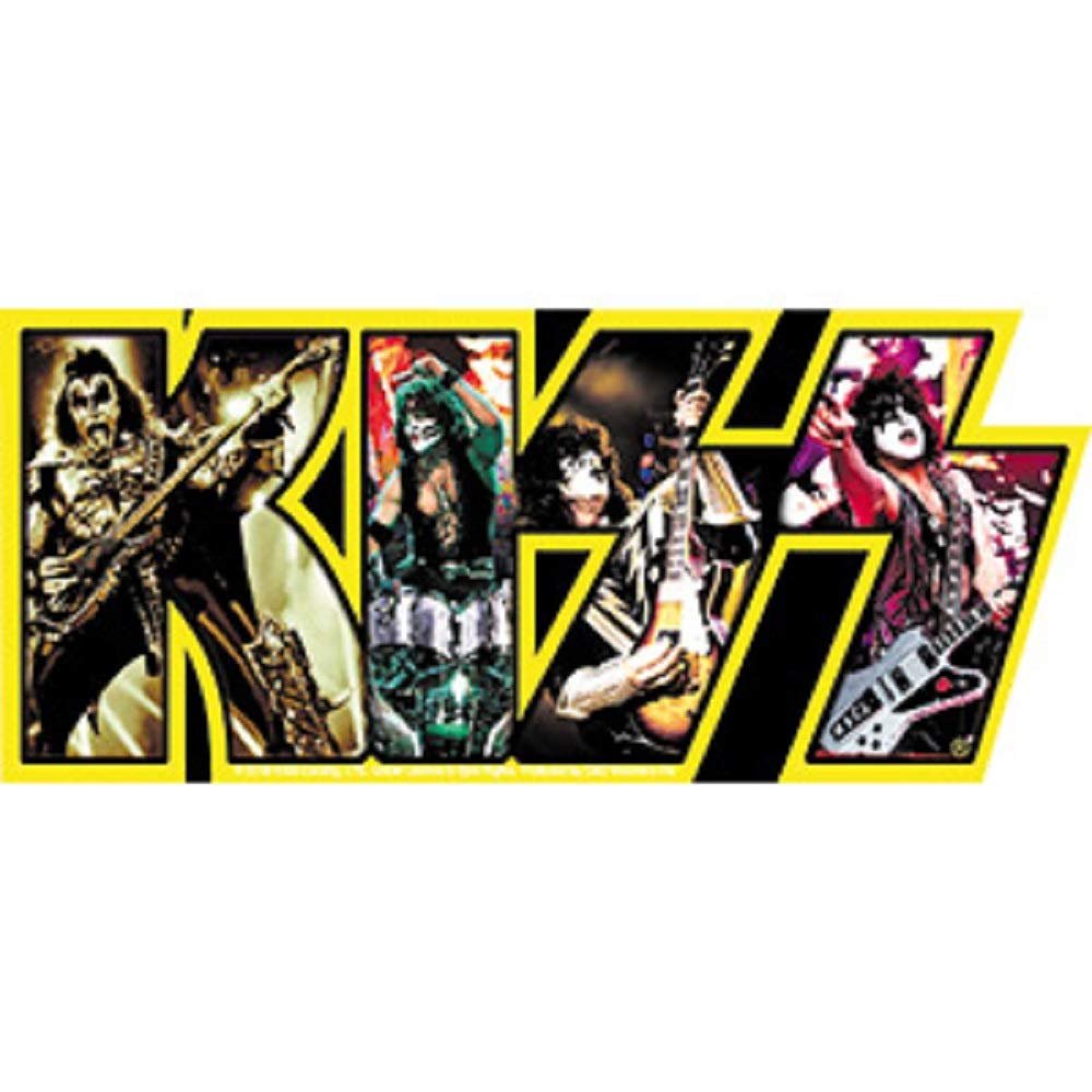 Artwork Vinyl Kiss Band Logo Yellow Decal STICKER