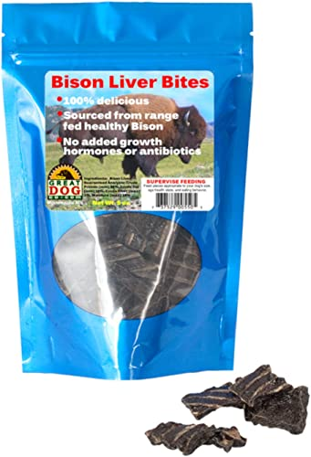 Great Dog Bison Liver Bites 5.0 oz. Bag