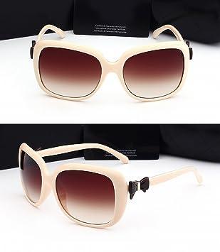 Polarisierte Große Rahmenbogen-Sonnenbrille-Schwarze Dameart Und Weisesonnenbrille-Klassische Sonnenbrille Beige Rahmen sWX7ZkM1es