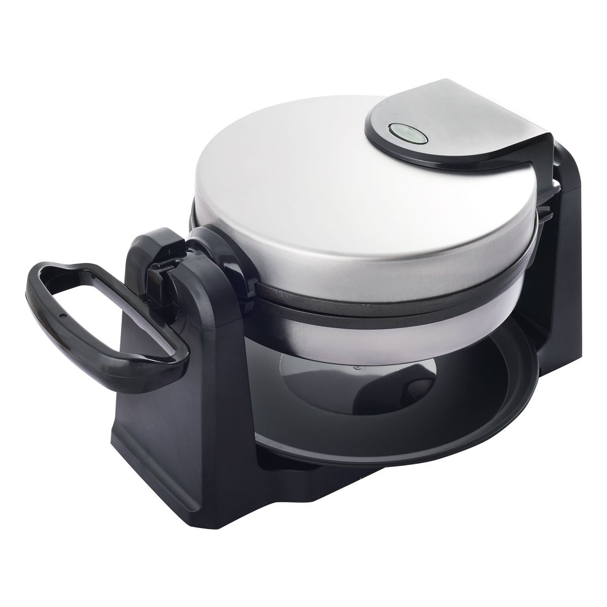 GHP 1080W Stainless Steel Non-Stick Belgian Waffle Maker with Removable Drip Tray