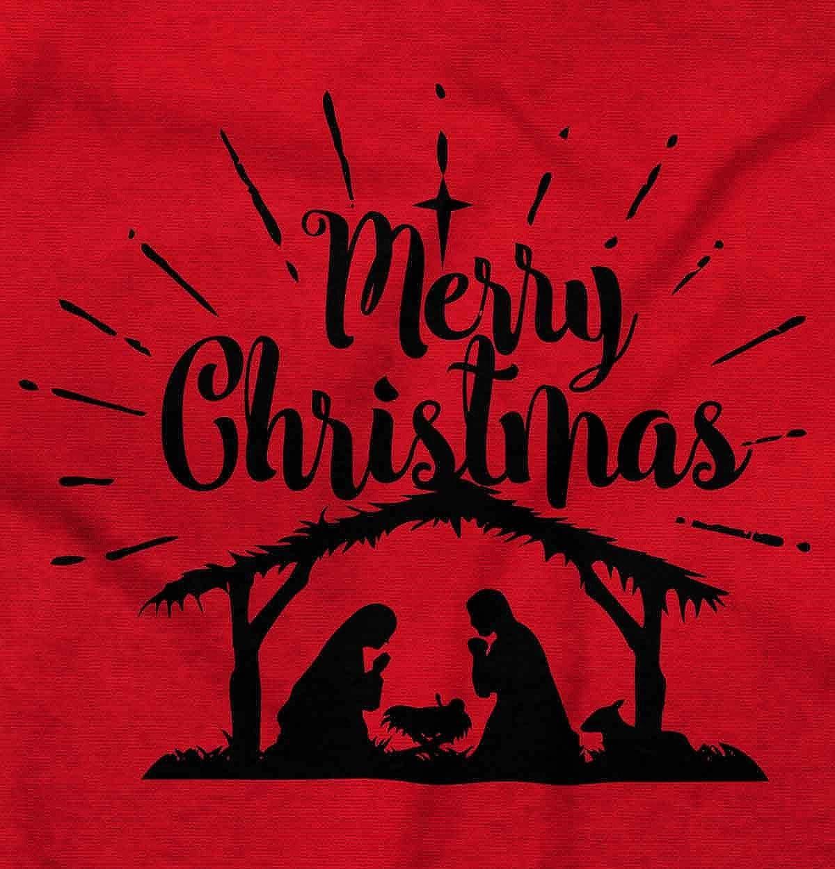 Merry Christmas Christian.Merry Christmas Nativity Scene Jesus Christ Crewneck Sweatshirt