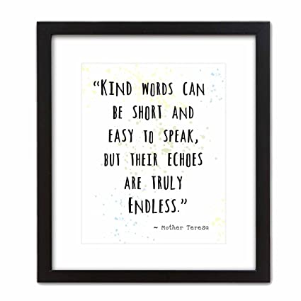 Amazon.com: Wall Art Print by ArtDash ~ MOTHER TERESA Inspirational ...