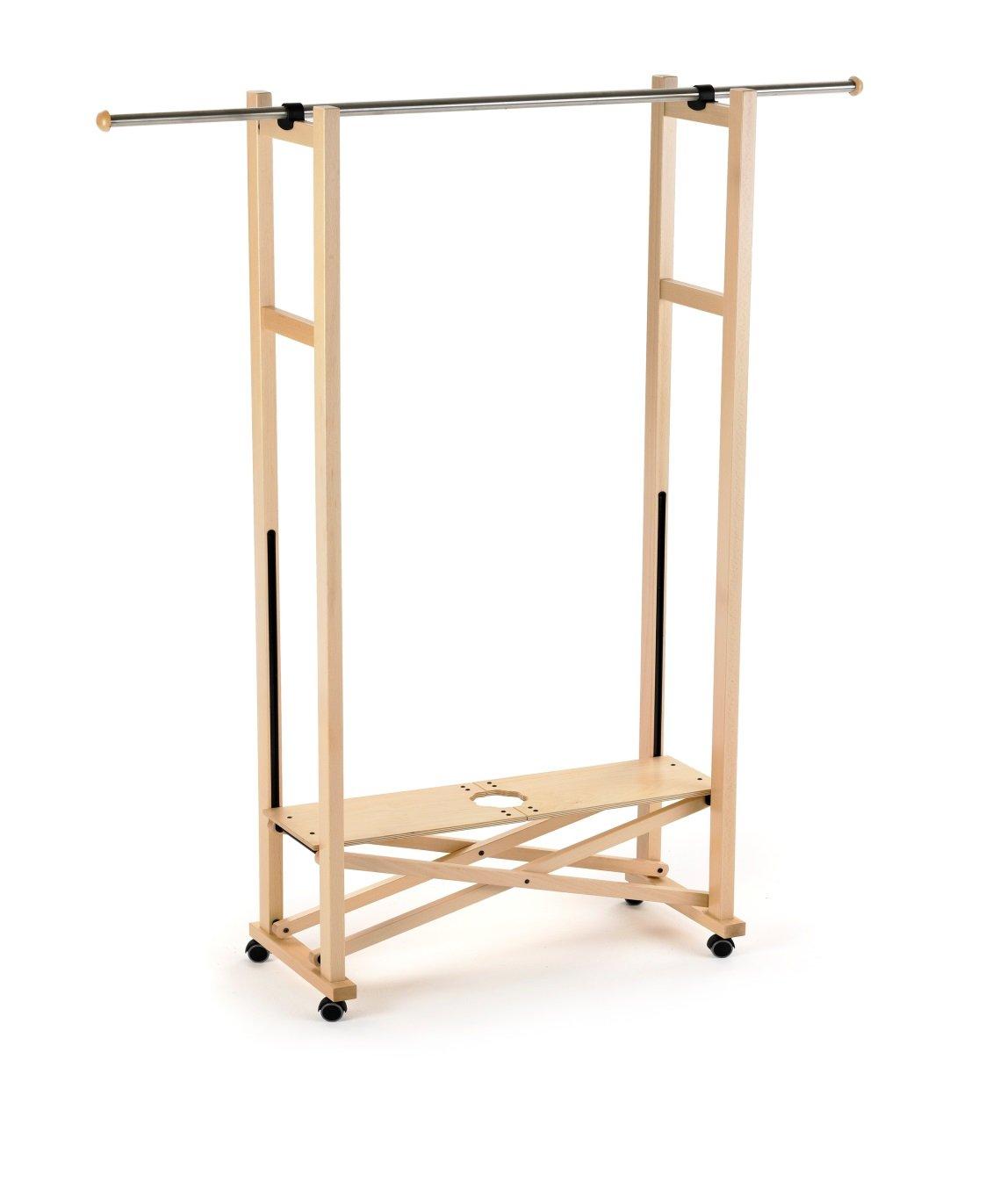 ARROTAMENTI ITALIA Garderobe ELIOS, Holz - Klappbar - Ausziehbar - Farbe  Naturlich Ar-It il cuore del legno