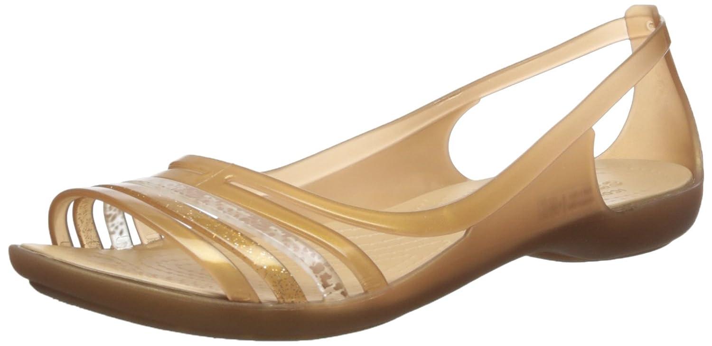 crocs Damen Isabellafltsndl Offene Sandalen mit Keilabsatz, Gold (Bronze), 33-34 EU